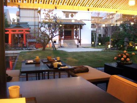 京都、改装後のとらや菓寮