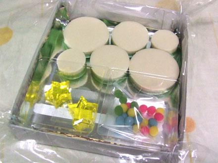 京都末富の生菓子。パーツにわかれています!