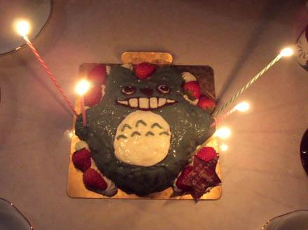 トトロの誕生日ケーキ