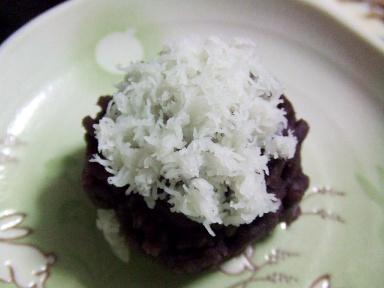 末富の上生菓子、紫の雪