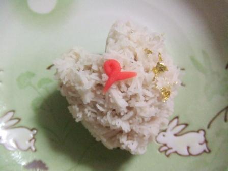 バレンタイン。京都本家玉寿軒の上生菓子『愛』